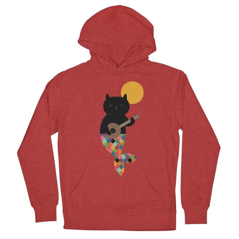 Purrmaid Women's French Terry Pullover Hoody by andywestface's Artist Shop