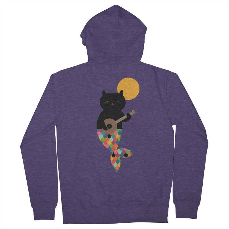 Purrmaid Men's French Terry Zip-Up Hoody by andywestface's Artist Shop