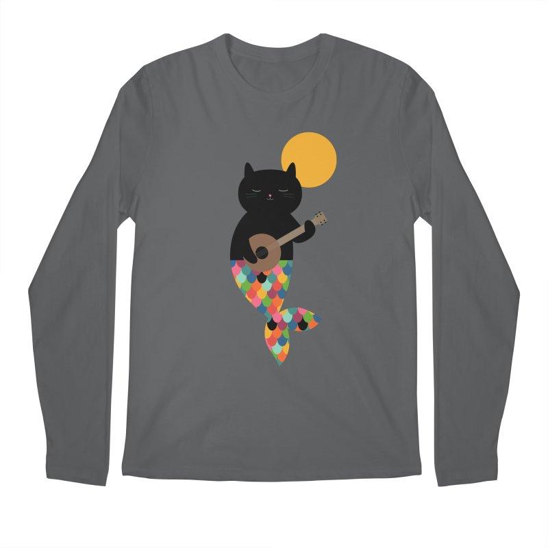 Purrmaid Men's Longsleeve T-Shirt by andywestface's Artist Shop