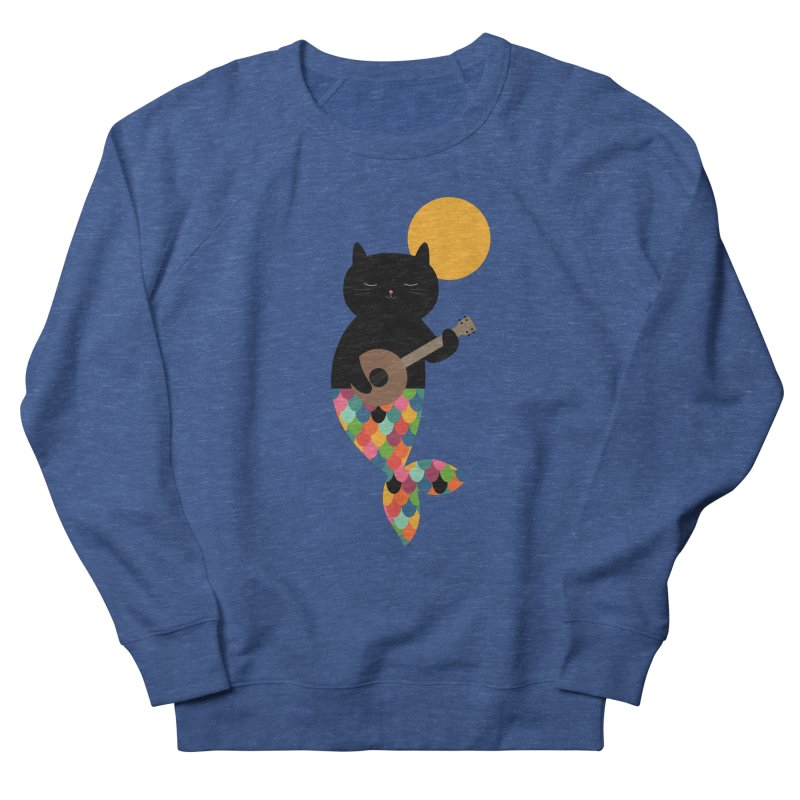 Purrmaid Women's French Terry Sweatshirt by andywestface's Artist Shop
