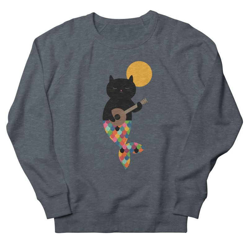 Purrmaid Men's French Terry Sweatshirt by andywestface's Artist Shop