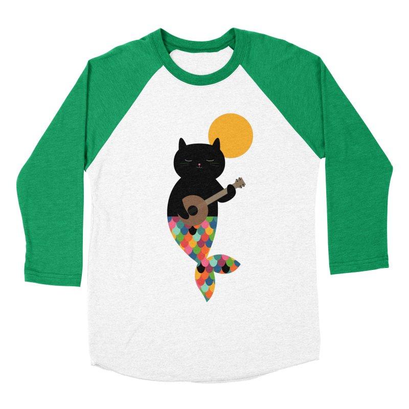 Purrmaid Men's Baseball Triblend Longsleeve T-Shirt by andywestface's Artist Shop