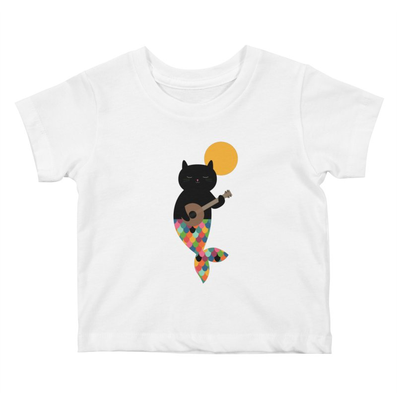 Purrmaid Kids Baby T-Shirt by andywestface's Artist Shop