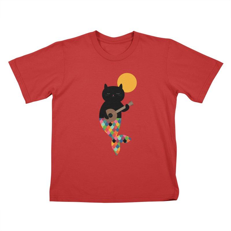 Purrmaid Kids T-Shirt by andywestface's Artist Shop