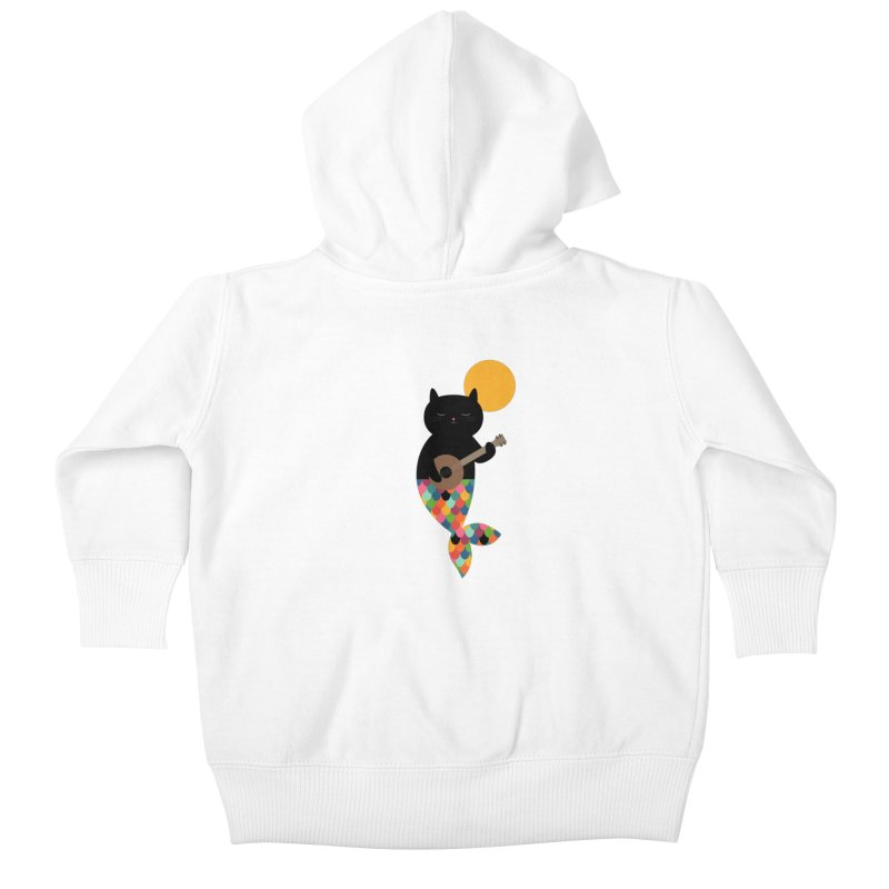 Purrmaid Kids Baby Zip-Up Hoody by andywestface's Artist Shop