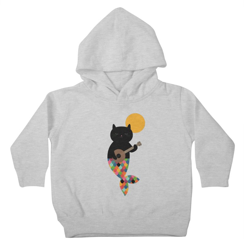 Purrmaid Kids Toddler Pullover Hoody by andywestface's Artist Shop