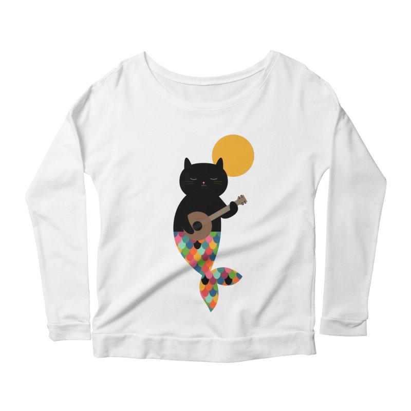 Purrmaid Women's Scoop Neck Longsleeve T-Shirt by andywestface's Artist Shop