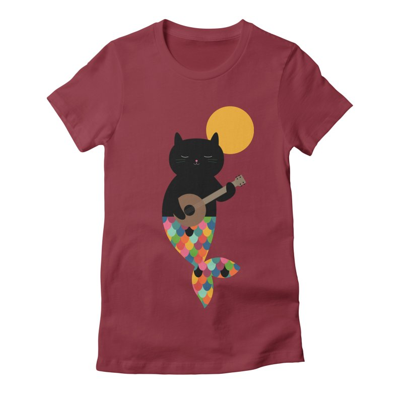 Purrmaid Women's Fitted T-Shirt by andywestface's Artist Shop