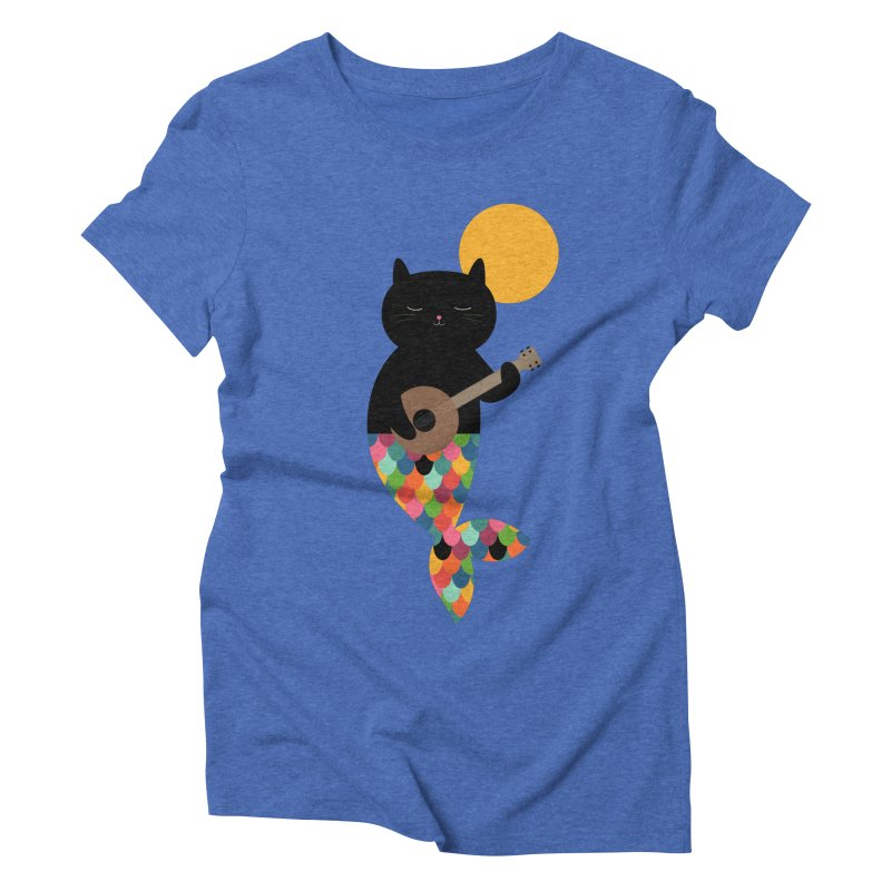 Purrmaid Women's Triblend T-Shirt by andywestface's Artist Shop