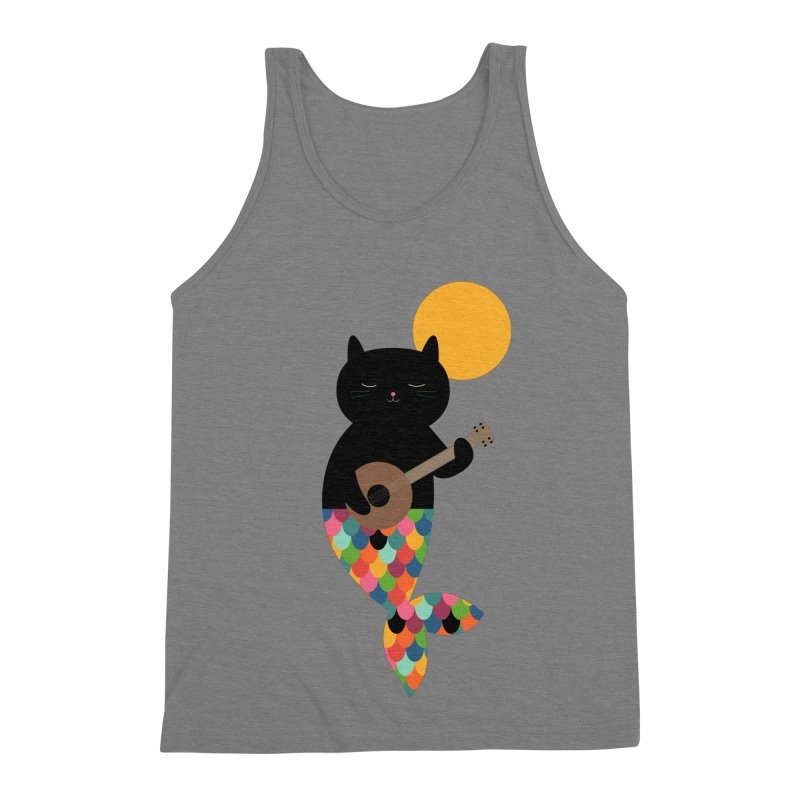 Purrmaid Men's Triblend Tank by andywestface's Artist Shop