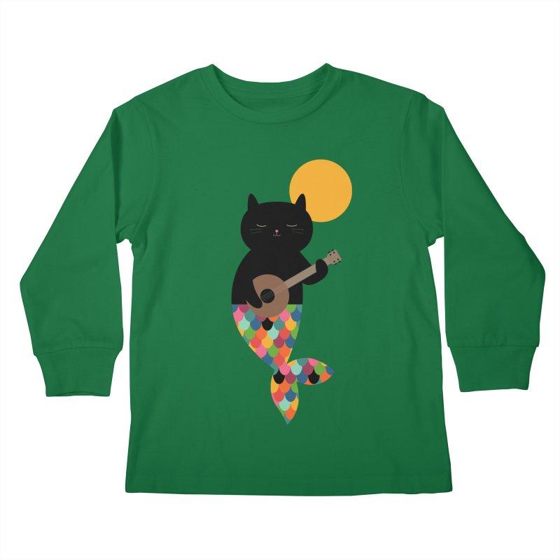 Purrmaid Kids Longsleeve T-Shirt by andywestface's Artist Shop