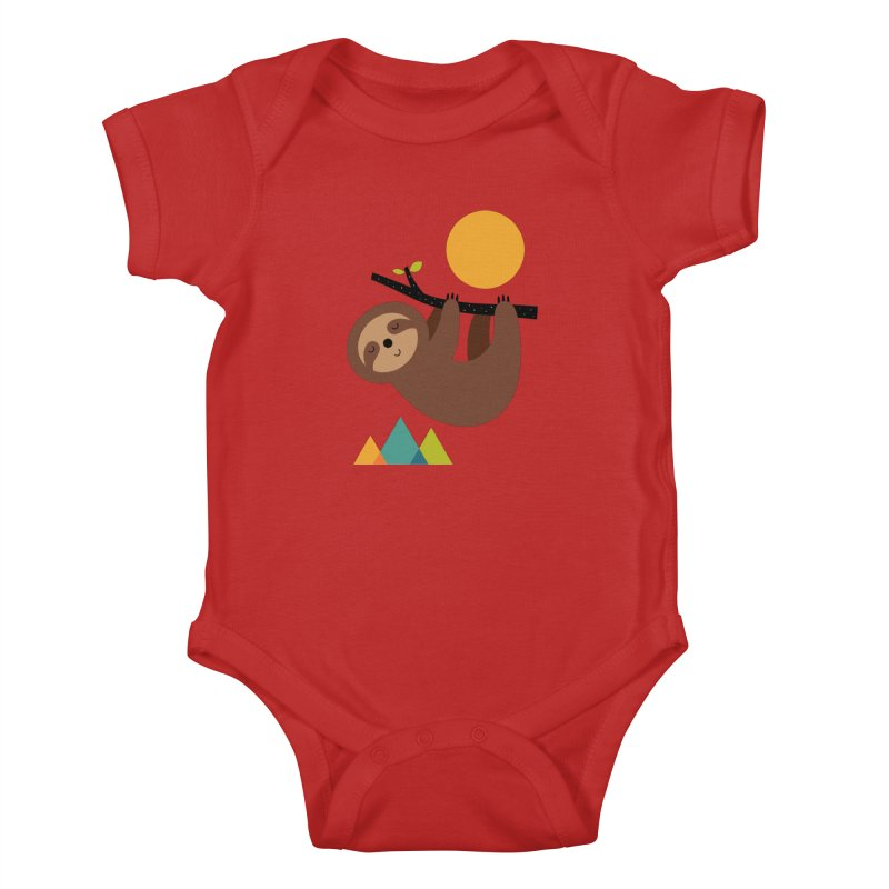Keep Calm And Live Slow Kids Baby Bodysuit by andywestface's Artist Shop