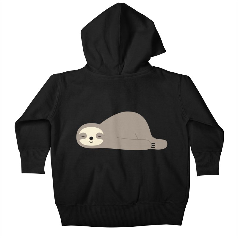 Do Nothing Kids Baby Zip-Up Hoody by andywestface's Artist Shop