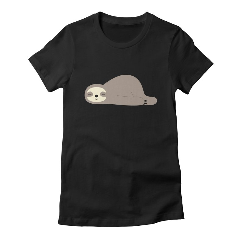 Do Nothing Women's Fitted T-Shirt by andywestface's Artist Shop
