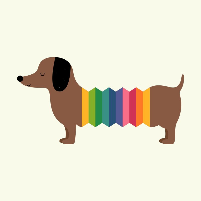 Rainbow Dooooog by andywestface's Artist Shop
