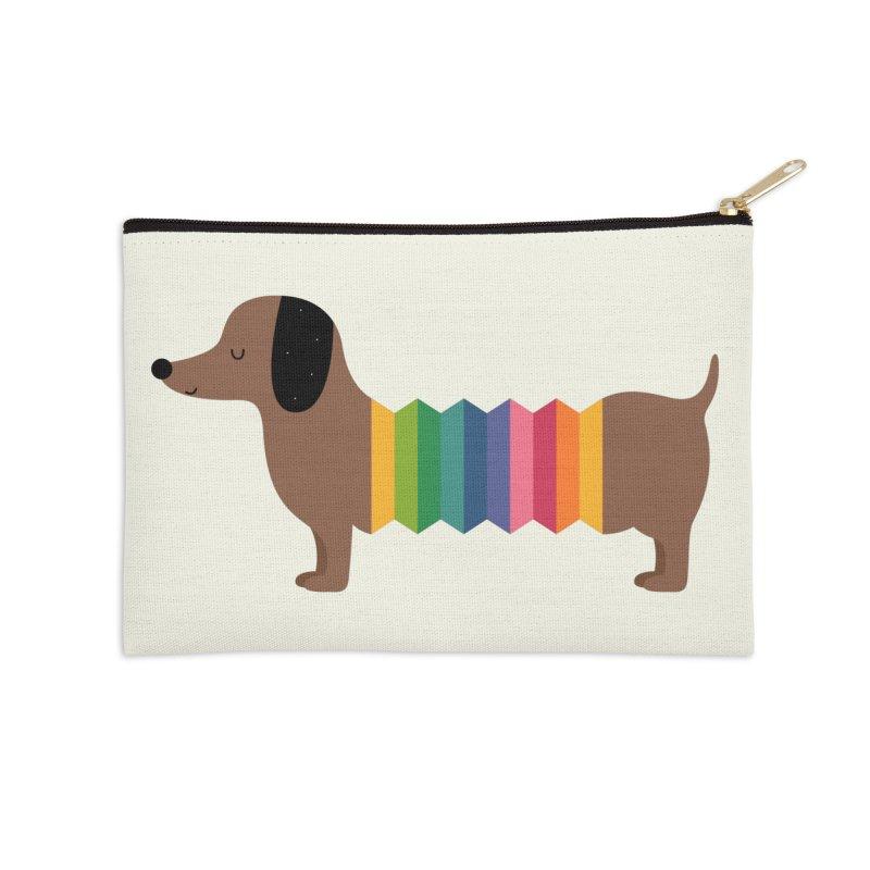 Rainbow Dooooog Accessories Zip Pouch by andywestface's Artist Shop