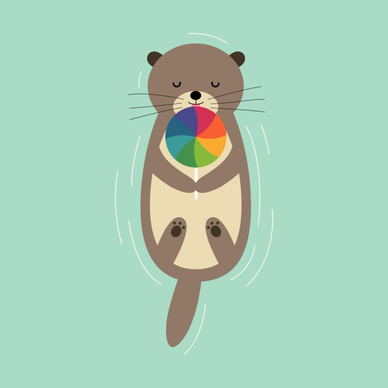 Sweet Otter Men's T-Shirt by andywestface's Artist Shop