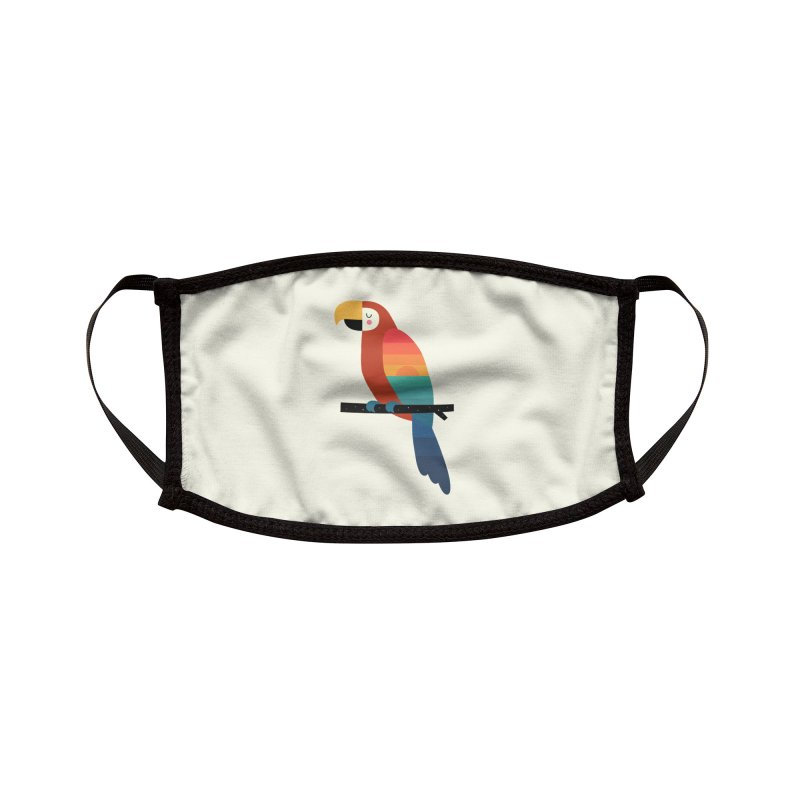 Sunset Parrot Accessories Face Mask by andywestface's Artist Shop