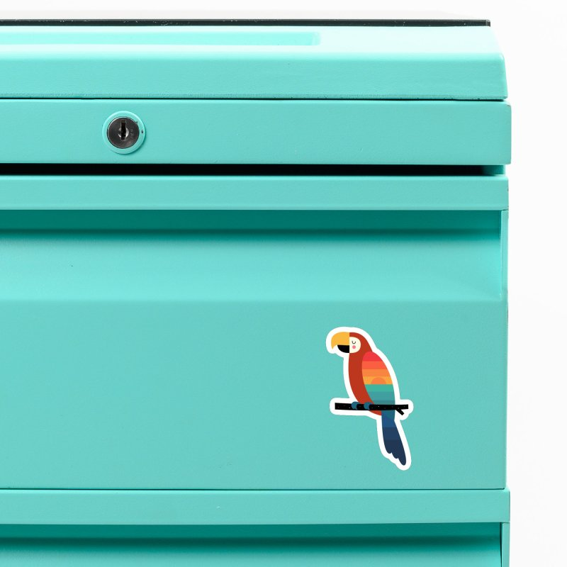 Sunset Parrot Accessories Magnet by andywestface's Artist Shop