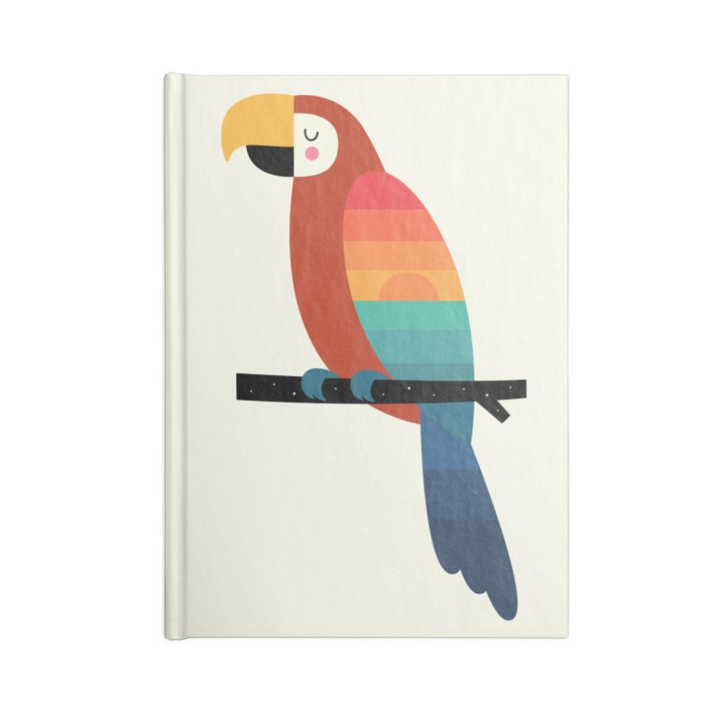 Sunset Parrot Accessories Notebook by andywestface's Artist Shop