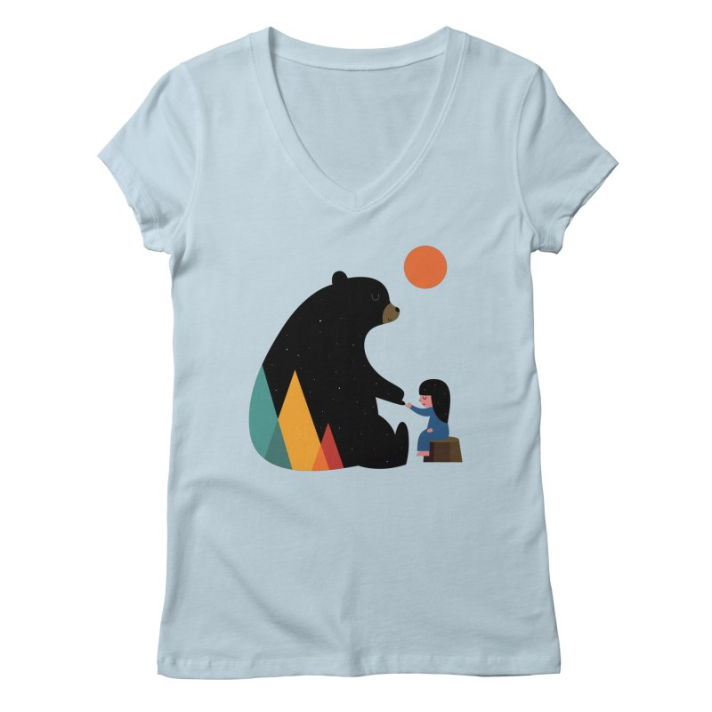 Promise Girl Women's V-Neck by andywestface's Artist Shop