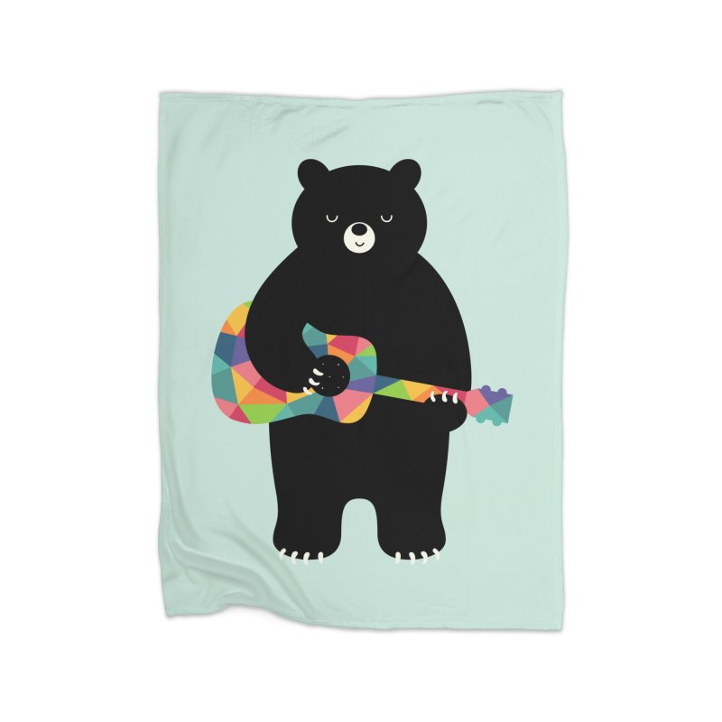 Happy Song Home Blanket by andywestface's Artist Shop
