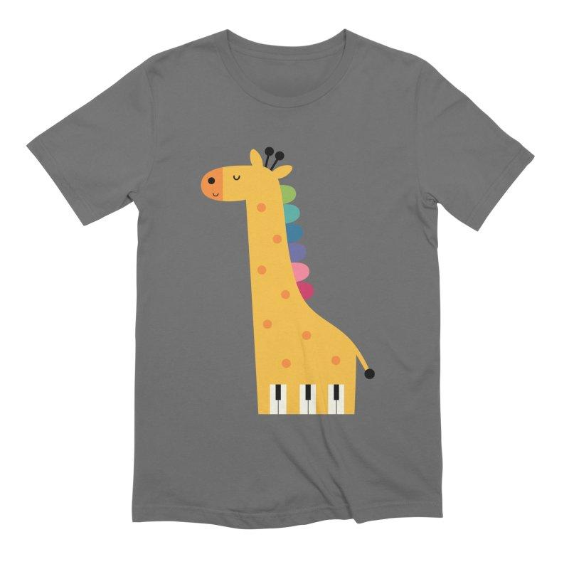 Giraffe Piano Men's T-Shirt by andywestface's Artist Shop