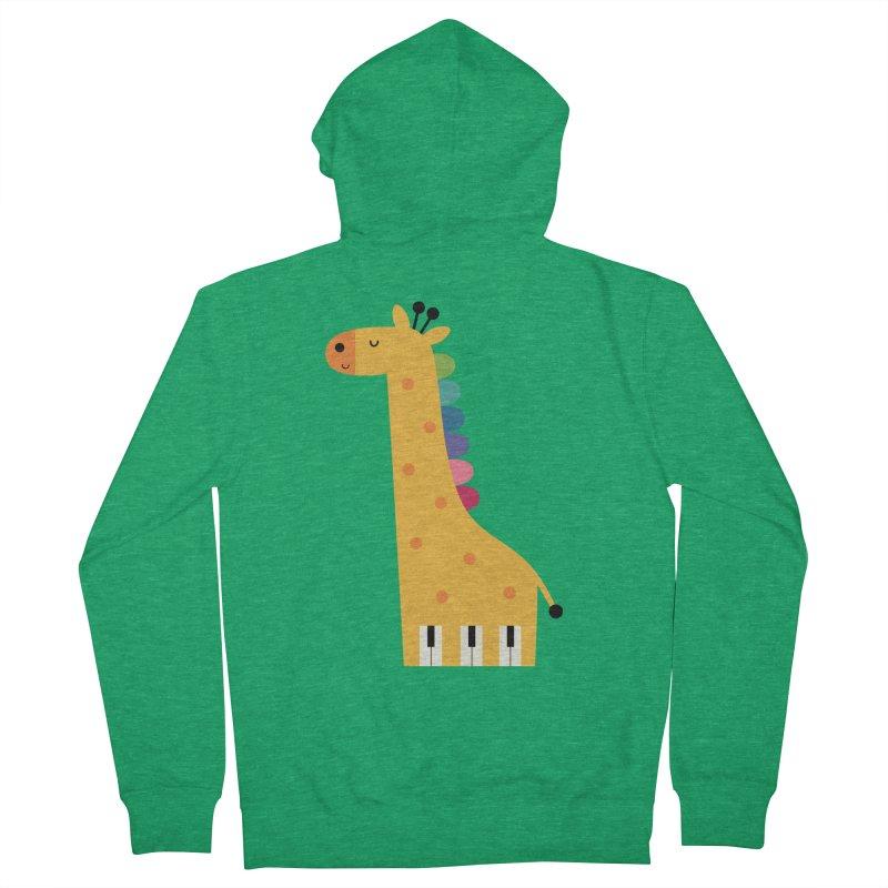 Giraffe Piano Women's Zip-Up Hoody by andywestface's Artist Shop