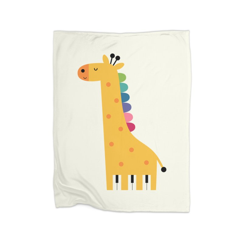 Giraffe Piano Home Blanket by andywestface's Artist Shop