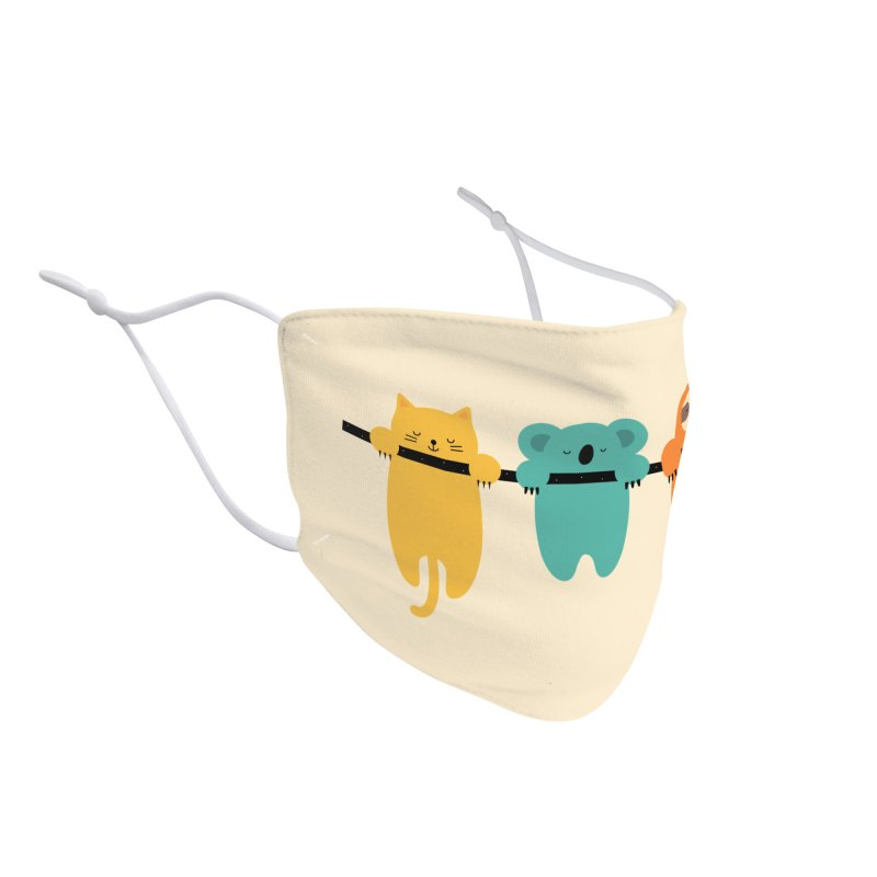 Hang In There Accessories Face Mask by andywestface's Artist Shop