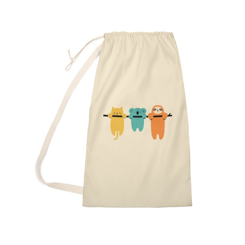 Hang In There Accessories Bag by andywestface's Artist Shop