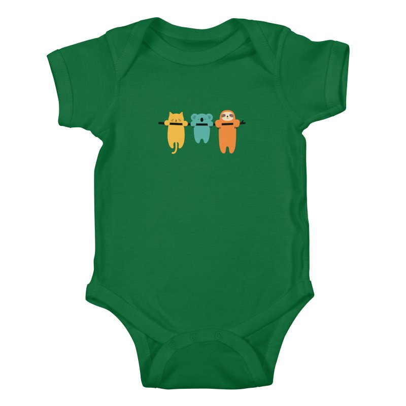 Hang In There Kids Baby Bodysuit by andywestface's Artist Shop
