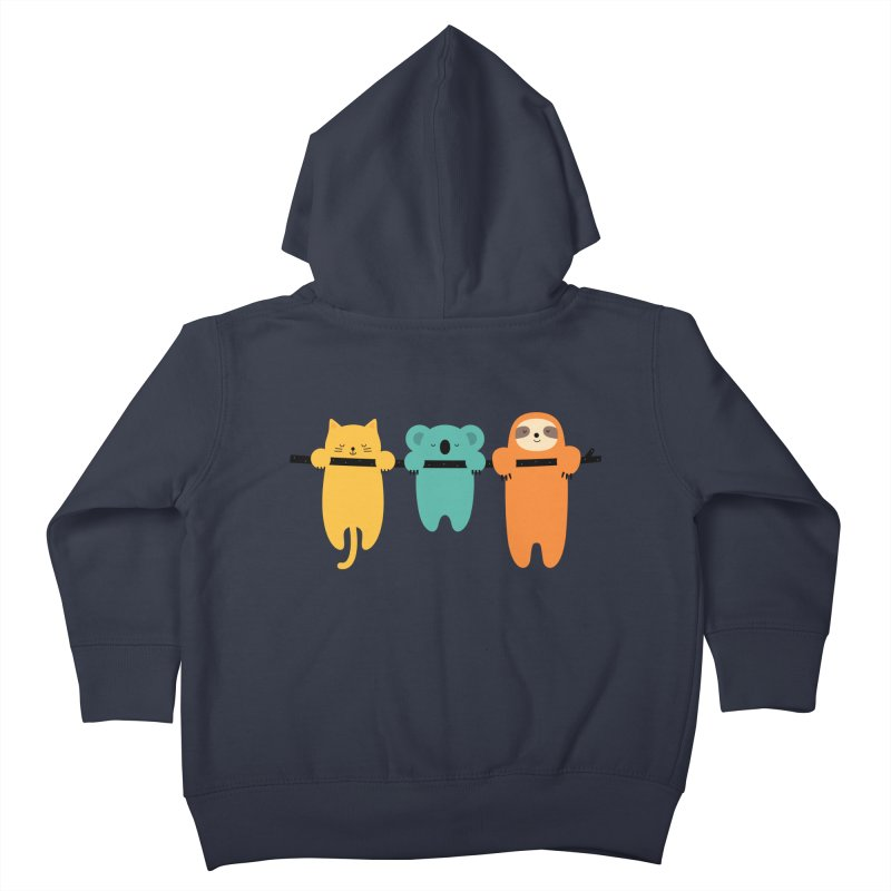 Hang In There Kids Toddler Zip-Up Hoody by andywestface's Artist Shop