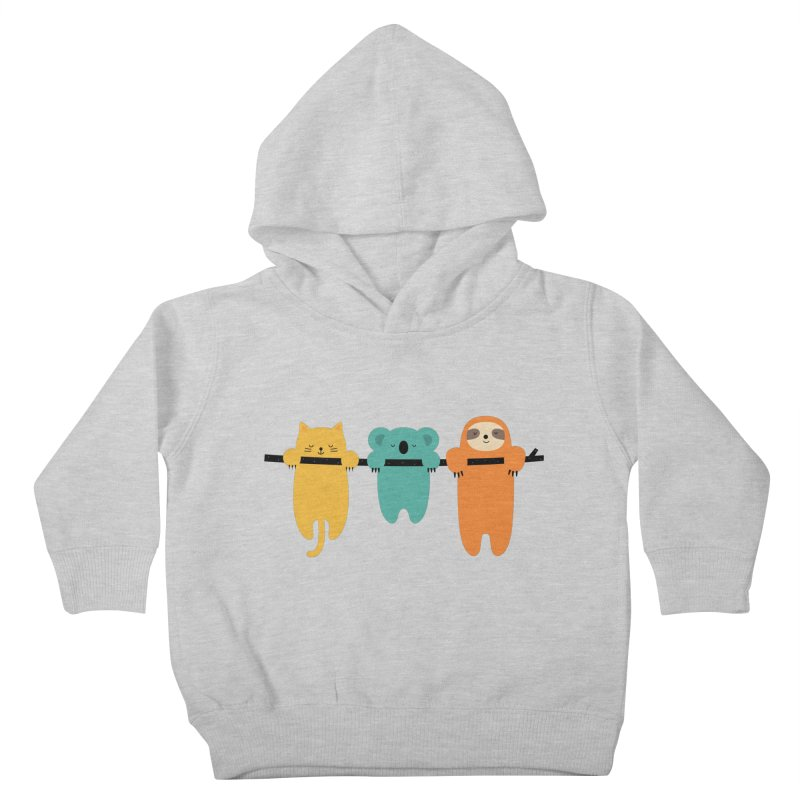 Hang In There Kids Toddler Pullover Hoody by andywestface's Artist Shop