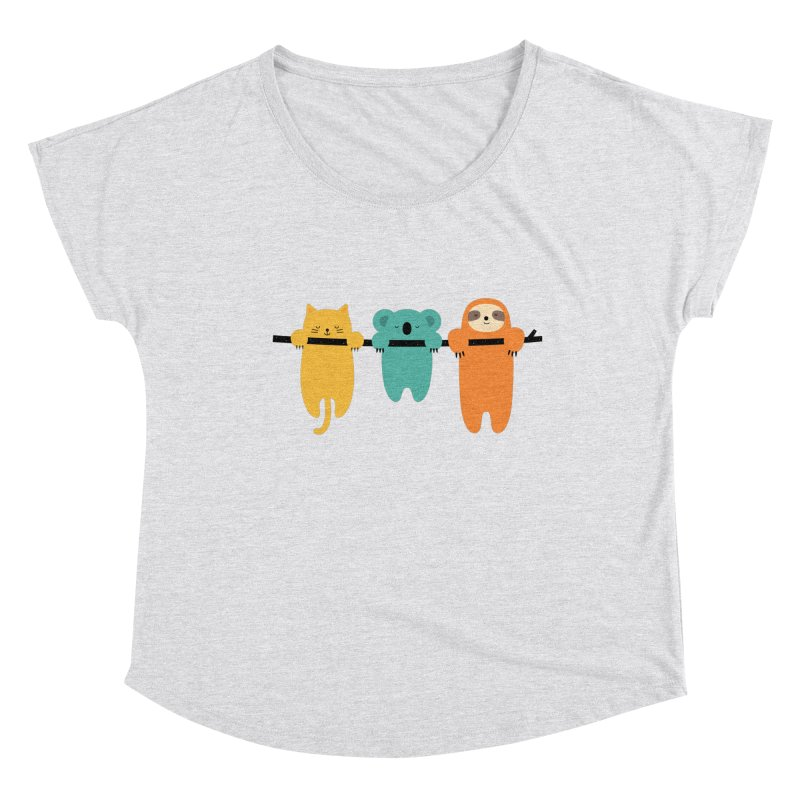 Hang In There Women's Scoop Neck by andywestface's Artist Shop