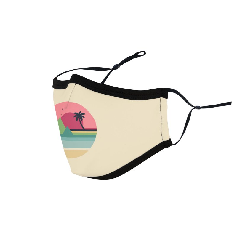 Tropical Sunset Accessories Face Mask by andywestface's Artist Shop