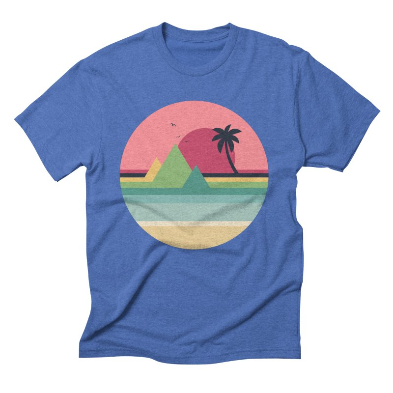 Tropical Sunset Men's T-Shirt by andywestface's Artist Shop
