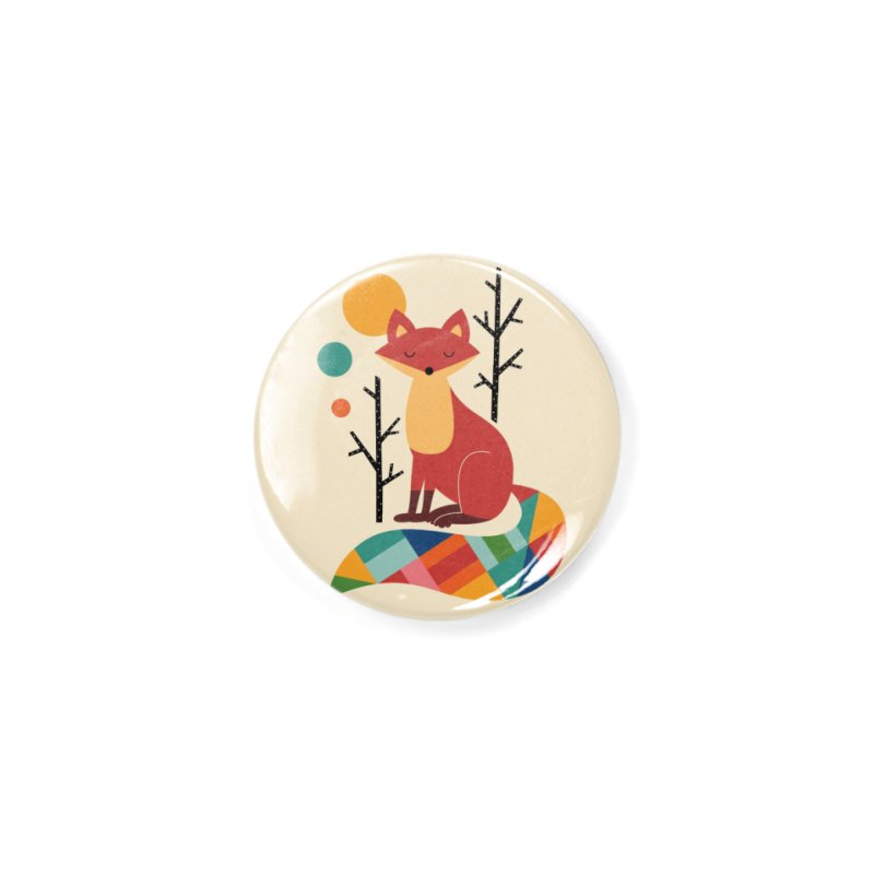 Rainbow Fox Accessories Button by andywestface's Artist Shop