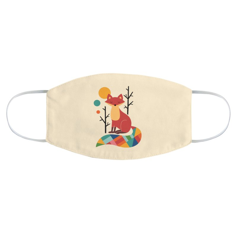 Rainbow Fox Accessories Face Mask by andywestface's Artist Shop