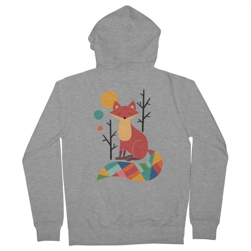 Rainbow Fox Men's Zip-Up Hoody by andywestface's Artist Shop