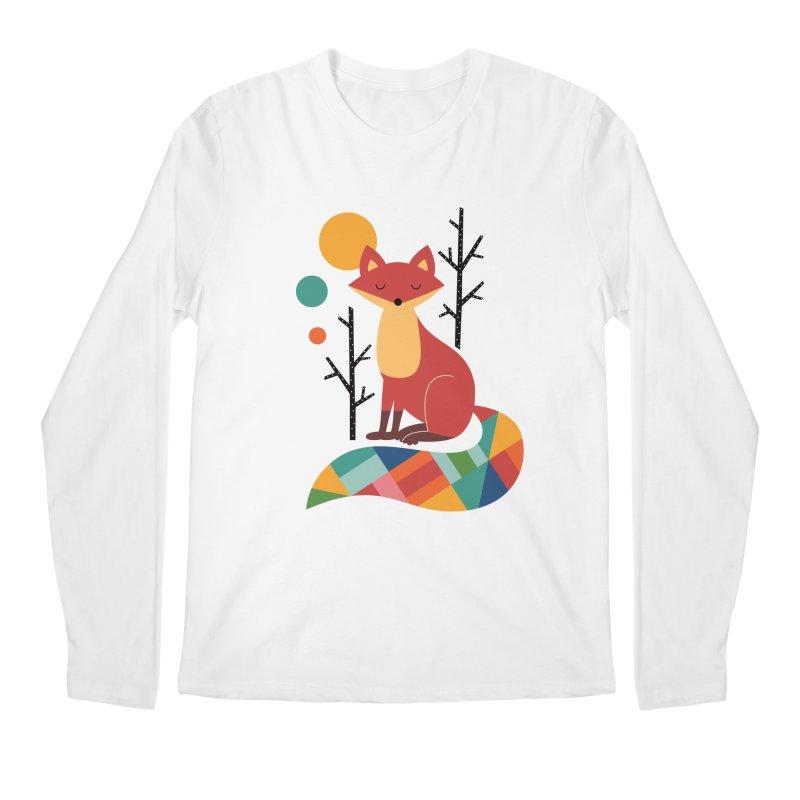 Rainbow Fox Men's Longsleeve T-Shirt by andywestface's Artist Shop
