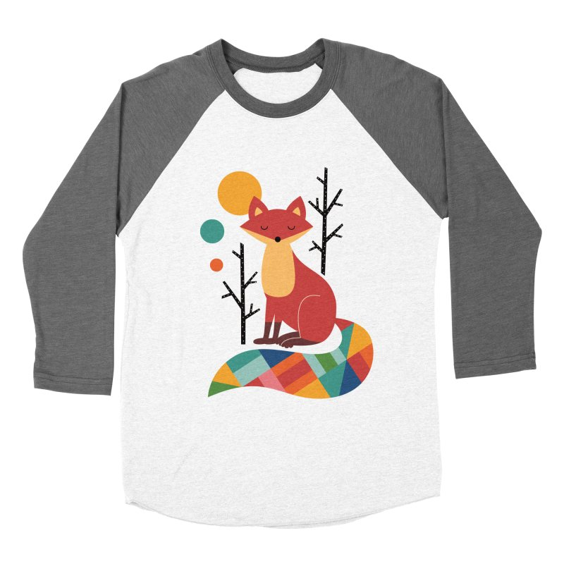 Rainbow Fox Men's Baseball Triblend T-Shirt by andywestface's Artist Shop