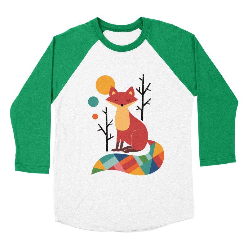 Rainbow Fox Men's Baseball Triblend T-Shirt by andywestface's Artist Shop