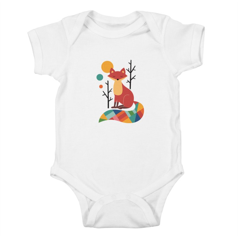 Rainbow Fox Kids Baby Bodysuit by andywestface's Artist Shop