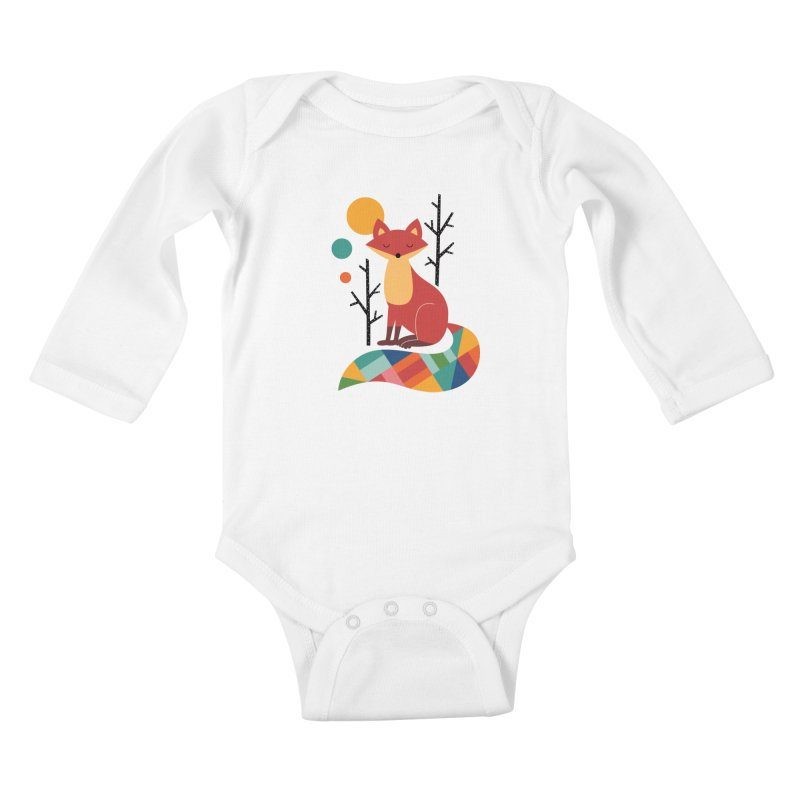 Rainbow Fox Kids Baby Longsleeve Bodysuit by andywestface's Artist Shop