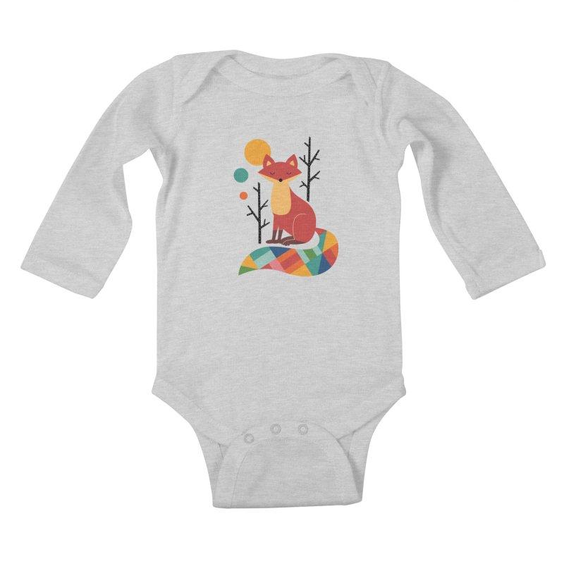 Rainbow Fox Kids Baby Longsleeve Bodysuit by andywestface's Artist Shop