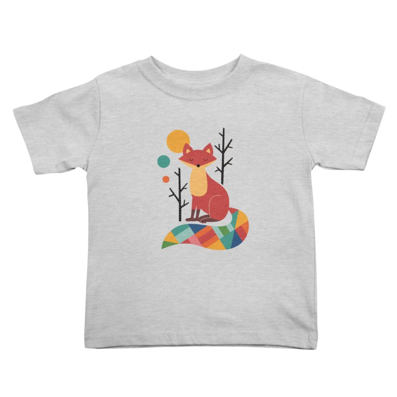 Rainbow Fox Kids Toddler T-Shirt by andywestface's Artist Shop