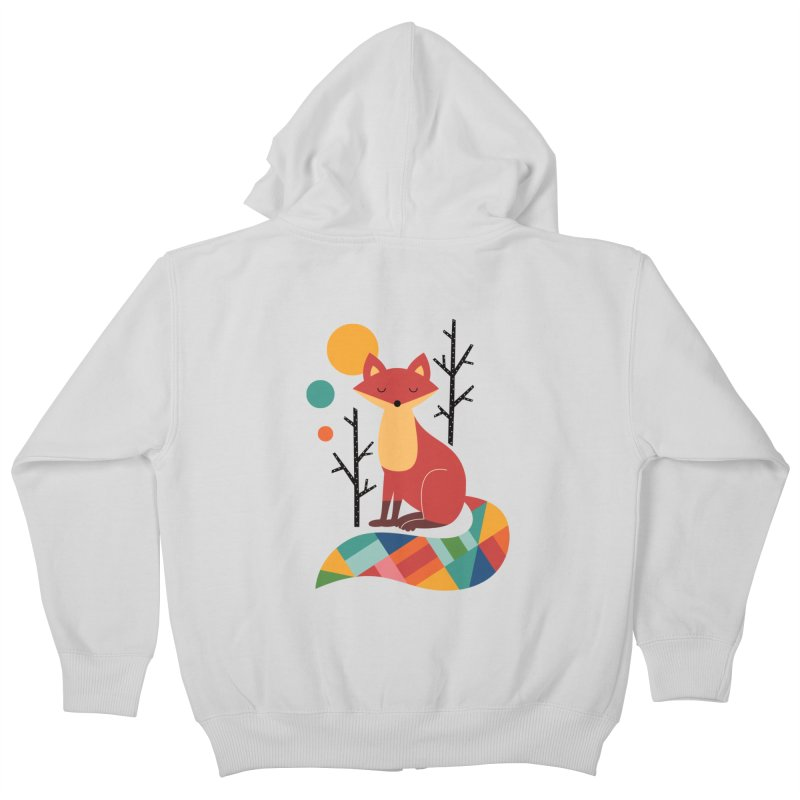 Rainbow Fox Kids Zip-Up Hoody by andywestface's Artist Shop
