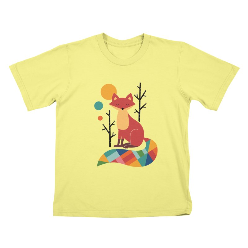 Rainbow Fox Kids T-shirt by andywestface's Artist Shop