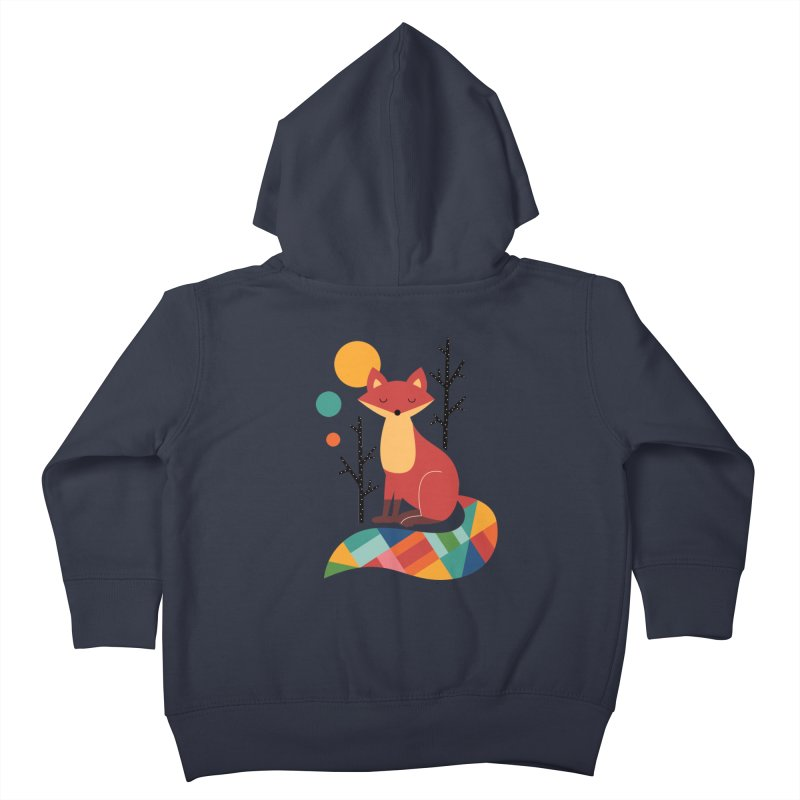 Rainbow Fox Kids Toddler Zip-Up Hoody by andywestface's Artist Shop